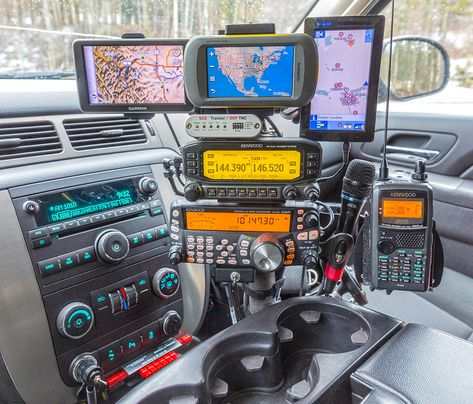 Always wondering where I left my HT lying in my mobile, I decided to add a mount to my radio-stack, especially for positioning one of my HT''s in place allowing me to keep track of it. In this photo I have the Kenwood positioned on the mount as seen on Bmw M4, Mobile Ham Radio, Patrol Y61, Tactical Truck, Ham Radio Antenna, Bug Out Vehicle, 3d Modelle, Info Board, Expedition Vehicle