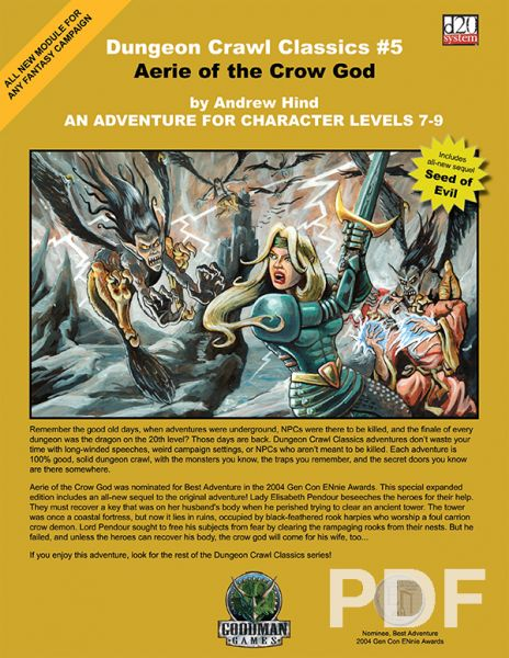 Dungeon Crawl Classics #5: Aerie of the Crow God – PDF