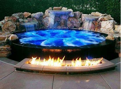 Image Result For Corner Large Hot Tub Hot Tub Backyard Hot Tub Outdoor Backyard Pool