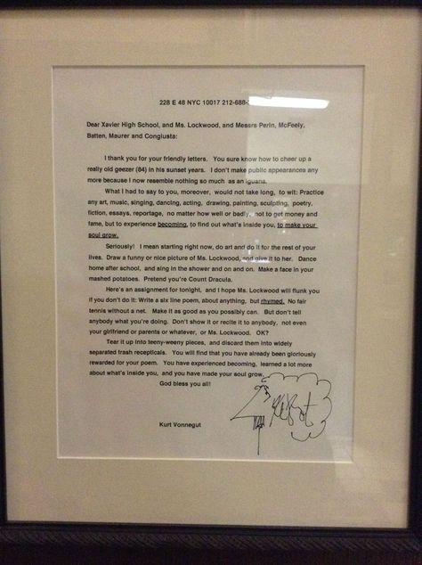 Kurt Vonnegut's letter