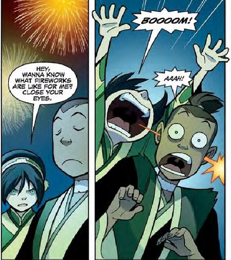 Happy 4th of July from Toph and Sokka :P
