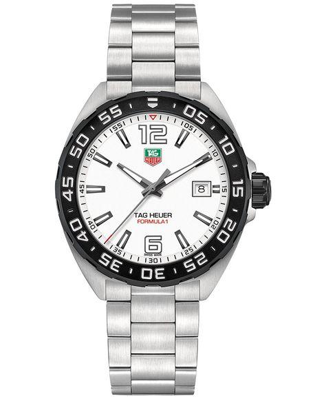 Tag Heuer Men's Swiss Formula 1 Stainless Steel Bracelet Watch 41mm WAZ1111.BA0875
