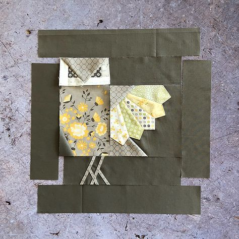 10 Brilliant Projects to Upcycle Leftover Fabric Scraps - Nedette Bird Quilt Blocks, Quilt Block Patterns, Pattern Blocks, Sewing Patterns, Block Quilt, Owl Quilt Pattern, Owl Patterns, Owl Quilts, Animal Quilts