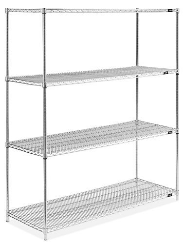 Stainless Steel Wire Shelving Unit 60 X 24 X 72 H 4298 Wire Shelving Units Shelving Unit Wire Shelving