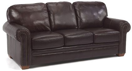 """Flexsteel Furniture: Sofas: HarrisonSofa with nails (3270-31)  """"Velencia"""" comes standard on this style"""