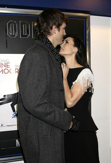 Demi Moore fawned all over her toyboy husband as they arrived at the UK charity premiere of Michael Radford's new film, Flawless, in London. #2008.11.27. #demimoore #ashtonkutcher