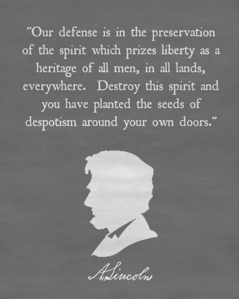 Abraham Lincoln Quote Chalkboard Printable 819×1024