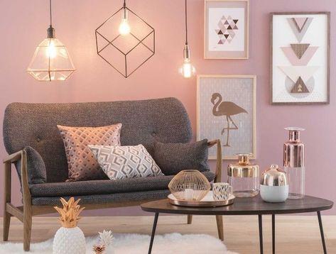 1001 Ideen Zum Thema Welche Farben Passen Zusammen Altrosa Wandfarbe Graues Sofa Wandgestaltung Wohnzimmer Farbe