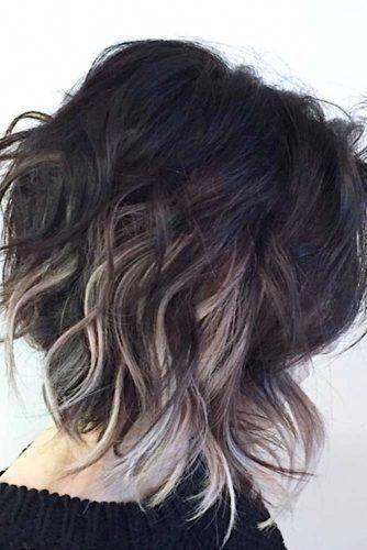 Image Result For Black Hair With Blonde Underneath Short Hair Blackhairstyles Short Ombre Hair Hair Styles Medium Length Hair Styles