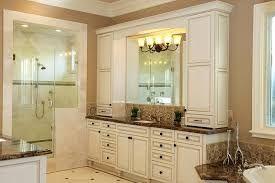 Image Result For Bathroom Vanity With Upper Cabinets Brown Bathroom Vanity Brown Bathroom Kitchen Cabinet Design