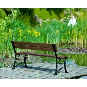 Banc De Jardin En Bois Et Aluminium 150 Cm Couleur Palissandre Farm Jardinerie Truffaut Jardins En Bois Bancs De Jardin En Bois Banc Jardin