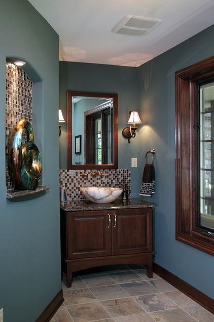 Brown And Blue Bathroom Ideas Elegant How To Light Your Bathroom Right In 2020 Brown Bathroom Decor Brown Bathroom Bathroom Colors