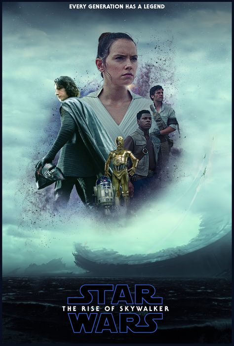 I made a poster for The Rise of Skywalker