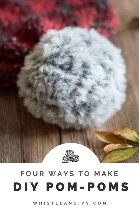 Have you tried all these ways to make your own pom-poms? With a few different options, you can find the perfect DIY pom-pom for whatever project you are working on. Pom Pom Crafts, Yarn Crafts, Pom Pom Diy, Diy Crafts, Tulle Poms, Tulle Tutu, Crochet Beanie, Crocheted Hats, Chrochet