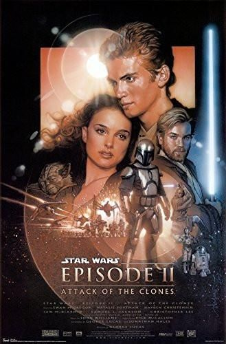 STAR WARS ATTACK OF THE CLONES Movie Poster Film Print EPISODE II