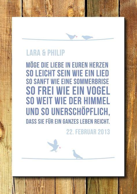 Gastgeschenke - Druck/Wandbild/Print: Segenswunsch (Hochzeit)
