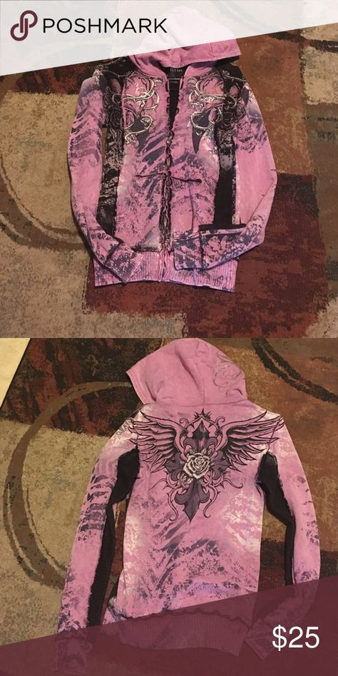 Zip up hoodie Purple zip up hoodie Sinful Other