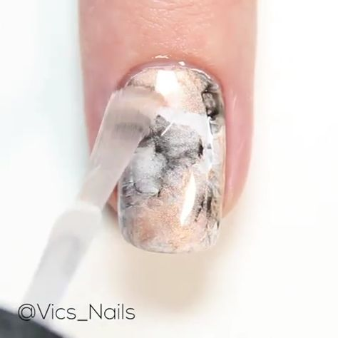 Here is marbled nail tutorial!