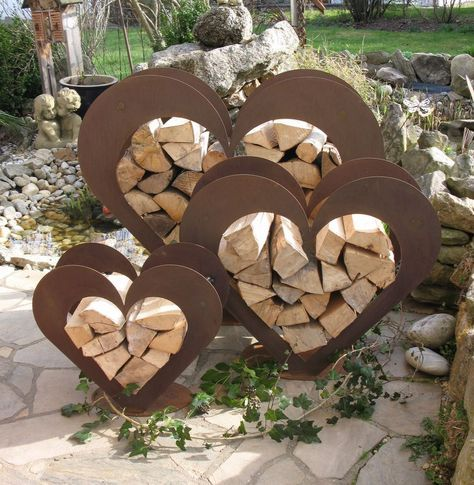 Herz Aus Metall Holz Regal Edel Rost Garten Terrasse Toll Original Ebay Geschaft Dekorieren Dekoration Garten Terrasse