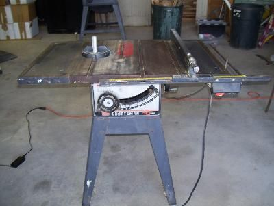 Sears Model 113 298030 Craftsman Table Saw Table Saw Fence Table Saw