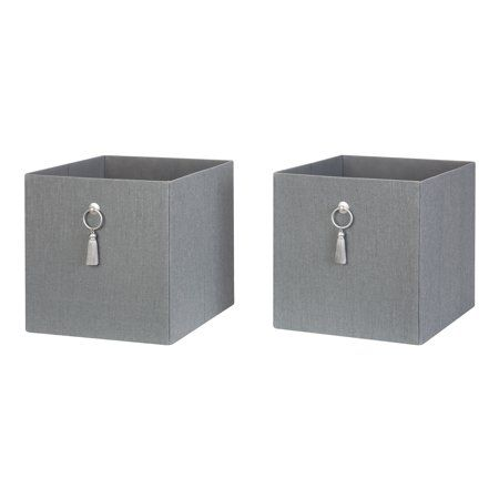 7d1274edbdfef6aecd0d0f3602500fc9 - Better Homes And Gardens Fabric Storage Bin Gray