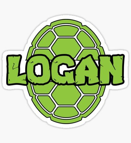 Logan Turtle Funny Reptile Kids Name Sticker By Gr33ngo Turtles