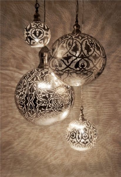 Spray painted through lace onto clear ornaments