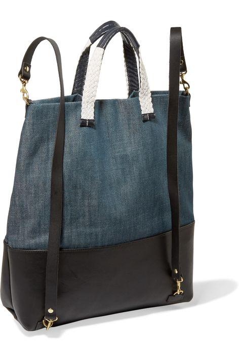 Clare VMatilde холст и кожа backpackback