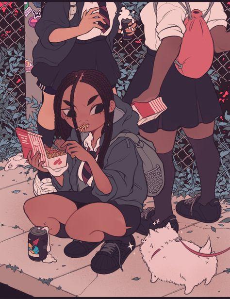 Ampere an – Black Anime & Animated cartoon - Cartoon Cartoon Cartoon, Black Girl Cartoon, Cartoon Kunst, Black Cartoon Characters, Tumblr Cartoon, Black Love Art, Black Girl Art, Art Girl, Black Girls