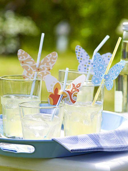 schmetterlingdeko für gläser selber machen  butterfly