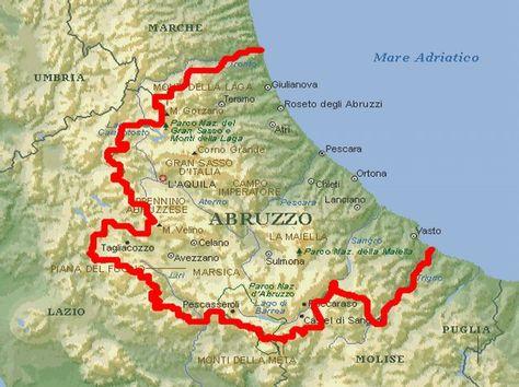 Karte Abruzzen Met Afbeeldingen Reizen