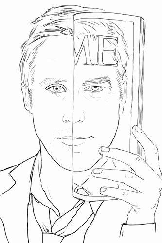 Ryan Gosling Coloring Book Beautiful Ryan Gosling Coloring Book I Love Mel Coloring Books Ryan Gosling Anti Stress Coloring Book