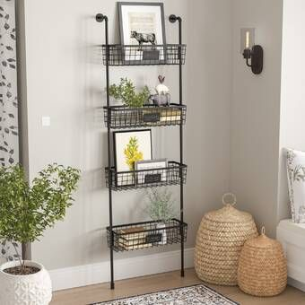 Julianne Wall Organizer With Wall Baskets In 2020 Baskets On Wall Wall Organization Basket Shelves