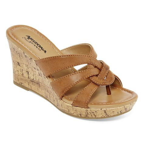 a116929cc5bd Arizona Caralin Wedge Sandals - JCPenney
