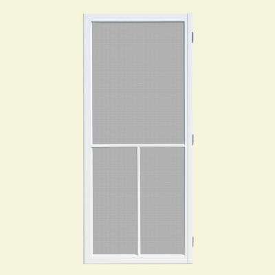 32 In X 80 In Hampton White Outswing Vinyl Hinged Screen Door Unique House Design Screen Door Vinyl Screen Doors
