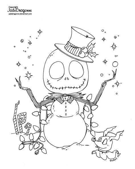 Jack Skellington Coloring Page Con Imagenes Sellos Digitales