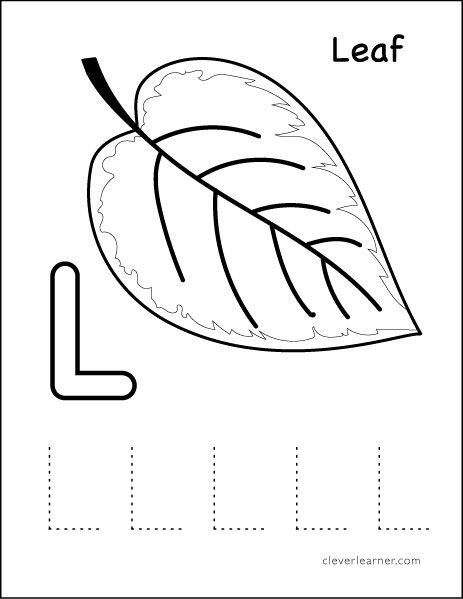 L Stands For Leaf Preschool Worksheet Letter L Worksheets Preschool Letters Tracing Worksheets Preschool Letter l tracing worksheet for preschool