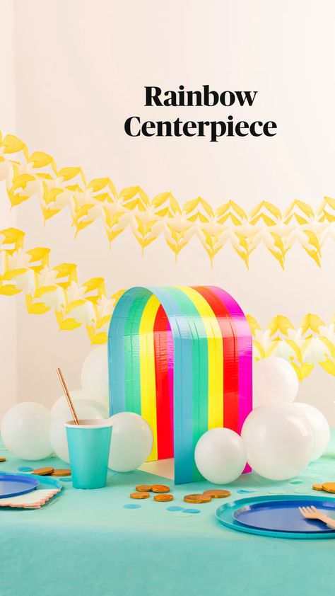 Rainbow Centerpiece with Duck Tape® | Oh Happy Day
