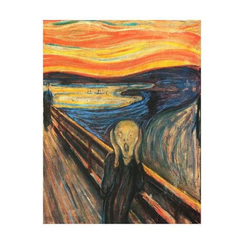 The Scream Edvard Munch. The most famous piece by Edvard Munch painted around It was painted using oil and pastel on cardboard. This frightening painting is on display at The National Gallery Oslo Norway Edvard Munch, Famous Art Paintings, Famous Artwork, Van Gogh Paintings, Indian Paintings, Scream Art, The Scream, Scream Parody, Collage Kunst