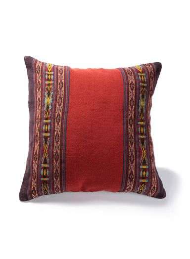 A Splash Of Sophisticated Color For Sofa Or Bed The Pillows Are Handcrafted By Cuzco Area Weavers Helping To Keep Alive The And Pillows Throw Pillows Weaving