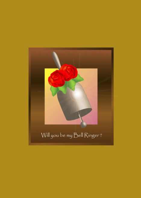 Will You Be My Bell Ringer Rose Bell Card Bell Ringers Cards Rose