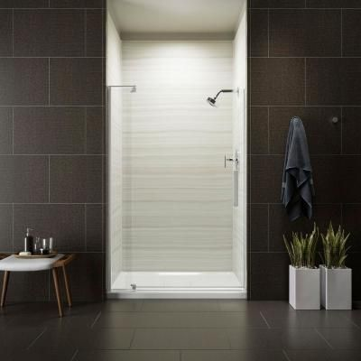 Kohler Revel 48 In X 70 In Frameless Pivot Shower Door In Bright