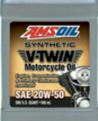 Amsoil 20w 50 Synthetic V Twin Motorcycle Oil Is A Premium Oil