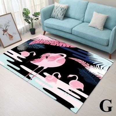 Pink Flamingo Design Rectangle Area Rug Just Pink About It Rugs On Carpet Soft Carpet Buying Carpet