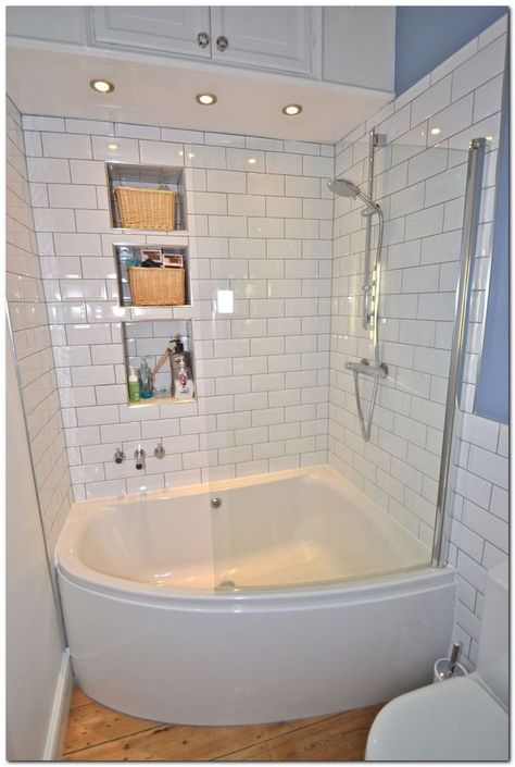 9 Secret Advice To Make An Outstanding Home Bathroom Remodel Corner Tub Shower Combo Tiny House Bathroom Corner Tub Shower