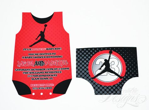 air jordan jumpman baby shower invitation invite invitation