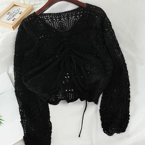 Comfy Tie Knit Sweater - Black / One Size