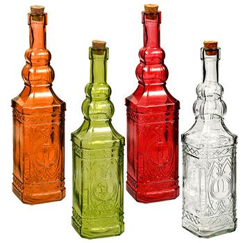 Square Vintage Style Glass Bottles With Cork Stoppers 12 In Glass Bottles With Corks Antique Glass Bottles Glass Bottles Art