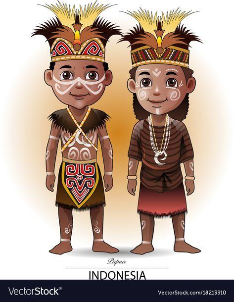 Terbaik Pakaian Adat Suku Asmat Kartun | Ideku Unik