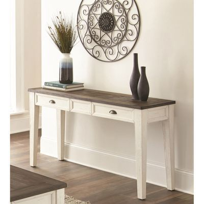 Carly Dark Oak White Sofa Table White Sofa Table Wood Sofa Table Sofa Table Decor
